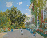 Impressionistic Paintings - The Artists House at Argenteuil by Extrospection Art