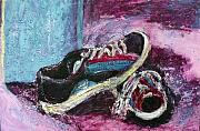 Tennis Painting Posters - The Artists Shoes Poster by Sarah Crumpler