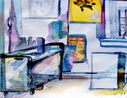 Studio Drawings - The Artists Studio by Mindy Newman