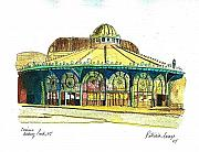 Asbury Park Paintings - The Asbury Park Casino by Patricia Arroyo