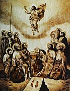 Dino Muradian Posters - The Ascension of Christ Poster by Dino Muradian