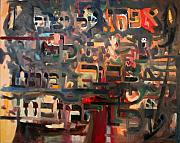 Teachings Painting Prints - The Ashes of Yitzhak Print by David Wolk