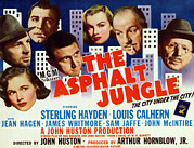 Films By John Huston Prints - The Asphalt Jungle, From Bottom Left Print by Everett