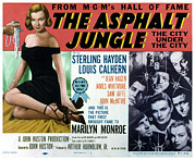 Films By John Huston Prints - The Asphalt Jungle, Left Marilyn Monroe Print by Everett