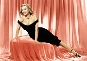 Bare Shoulder Metal Prints - The Asphalt Jungle, Marilyn Monroe, 1950 Metal Print by Everett