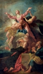 Heavens Painting Metal Prints - The Assumption of the Virgin Metal Print by Jean Francois de Troy