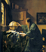 History Of Science Prints - The Astronomer, 17th Century Artwork Print by Sheila Terry