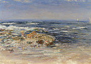 Boats. Water Paintings - The Atlantic Surf by William Mc Taggar