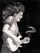 Celebrities Drawings Metal Prints - The Audience Is Listening Metal Print by Kathleen Kelly Thompson