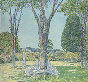 The Garden Bench Prints - The Audition Print by Childe Hassam