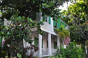 Audubon Digital Art Posters - The Audubon House - Key West Florida Poster by Bill Cannon