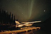 Etc. Photos - The Aurora Borealis Glows Brightly by Raymond Gehman