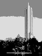 Austin Artist Digital Art - The Austonian BW3 by Scott Kelley