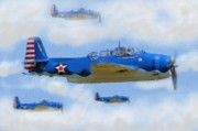 Aircraft Paintings - The Avengers by Garry Staranchuk