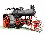 Steam Tractor Framed Prints - The Avery Framed Print by Ferrel Cordle