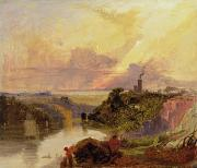 Romanticism Posters - The Avon Gorge at Sunset  Poster by Francis Danby