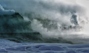 First Light Prints - The Awe of Yellowstone Print by Sandra Bronstein