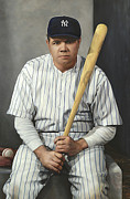 Babe Ruth Paintings - The Babe by John Payne