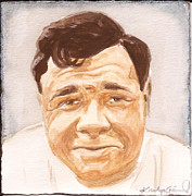 Babe Ruth Paintings - The Babe by Kathryn Gainard