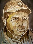 Babe Ruth Paintings - The Babe by Leo Gordon