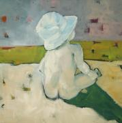 Sun Hat Mixed Media Posters - The Baby Poster by M Allison