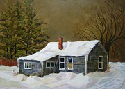 Abandoned Houses Painting Metal Prints - The Bachelors House Metal Print by Jane  Francis