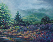 Lifting Pastels Prints - The Back Road In Print by Denise Horne-Kaplan
