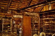 Pelts Prints - The Back Room of the Blacksmith Shop Print by David Patterson