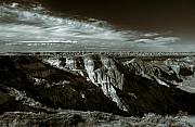 Landscap Photo Framed Prints - The Badlands Framed Print by Wayne Sherriff