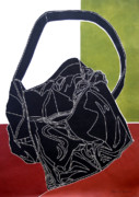 Straps Digital Art Metal Prints - The Bag Metal Print by Walter Neal