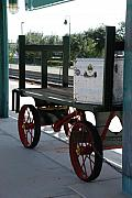 The Baggage Cart And Truck Print by Rob Hans