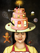 Baking Painting Posters - The Baker Poster by Leah Saulnier The Painting Maniac
