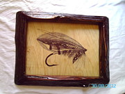Fly Fishing Drawings Originals - The Baker Salmon Fly by Peter Kaniaru