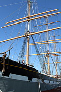 Fishermans Wharf Prints - The Balclutha . A 1886 Square Rigged Cargo Ship At The Hyde Street Pier in SF California . 7D14135 Print by Wingsdomain Art and Photography