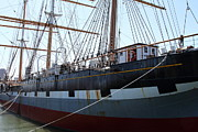 Sailing Vessel Photos - The Balclutha . A 1886 Square Rigged Cargo Ship At The Hyde Street Pier in SF California . 7D14153 by Wingsdomain Art and Photography