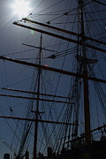 Sailing Vessel Photos - The Balclutha . A 1886 Square Rigged Cargo Ship At The Hyde Street Pier in SF . Mast . 7D14157 by Wingsdomain Art and Photography