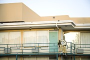 Racism Prints - The Balcony Of The Lorraine Motel Where Print by Everett