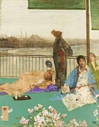 Whistler Painting Posters - The Balcony Poster by Pg Reproductions