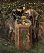 1833 Metal Prints - The Baleful Head Metal Print by Sir Edward Burne-Jones
