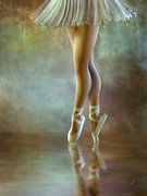 Ballerina Mixed Media Framed Prints - The Ballerina Framed Print by Ana CBStudio