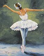 Ballet Dancer Posters - The Ballerina II   Poster by Torrie Smiley
