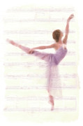 Dancer Art Prints - The Ballerina Print by Stefan Kuhn