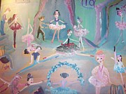 Theatre Painting Originals - The Ballet Contest by Judith Desrosiers