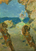 Mahogany Prints - The Ballet Dancer Print by Edgar Degas