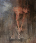Ballet Dancers Paintings - The Ballet dancer Swan Lake by Elisabeth Nussy Denzler von Botha