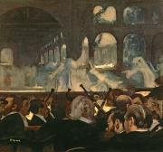 Nuns Paintings - The ballet scene from Meyerbeers opera Robert le Diable by Edgar Degas