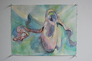 Ballet Drawings Originals - The Ballet Slipper Study by Maxine Schacker