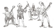 Hip Drawings - The Band by R  Allen Swezey