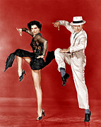 1950s Movies Photo Metal Prints - The Band Wagon, From Left Cyd Charisse Metal Print by Everett