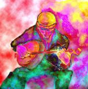 Show Mixed Media - The Banjo Player by Mimo Krouzian
